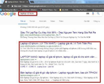 Website cùng chủ đề với laptop cũ HCM