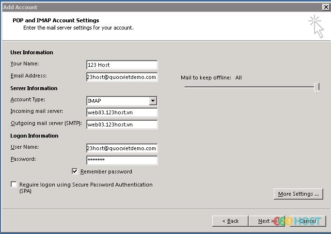 160817C (HIỀN) Hướng Dẫn Kết Nối Email Hosting Với Microsoft Outlook 1