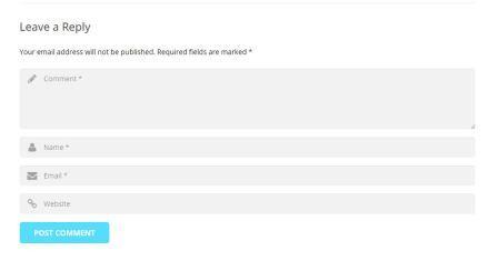 Giao diện của khu vực Blog Comment
